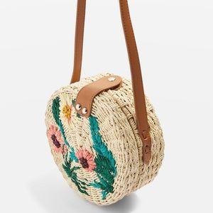 Topshop straw circle bag